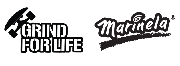 Grind for Life Presented by Marinela Logos